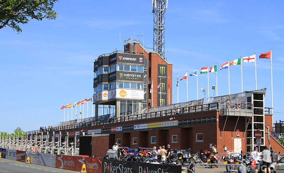 Grandstand with Flags