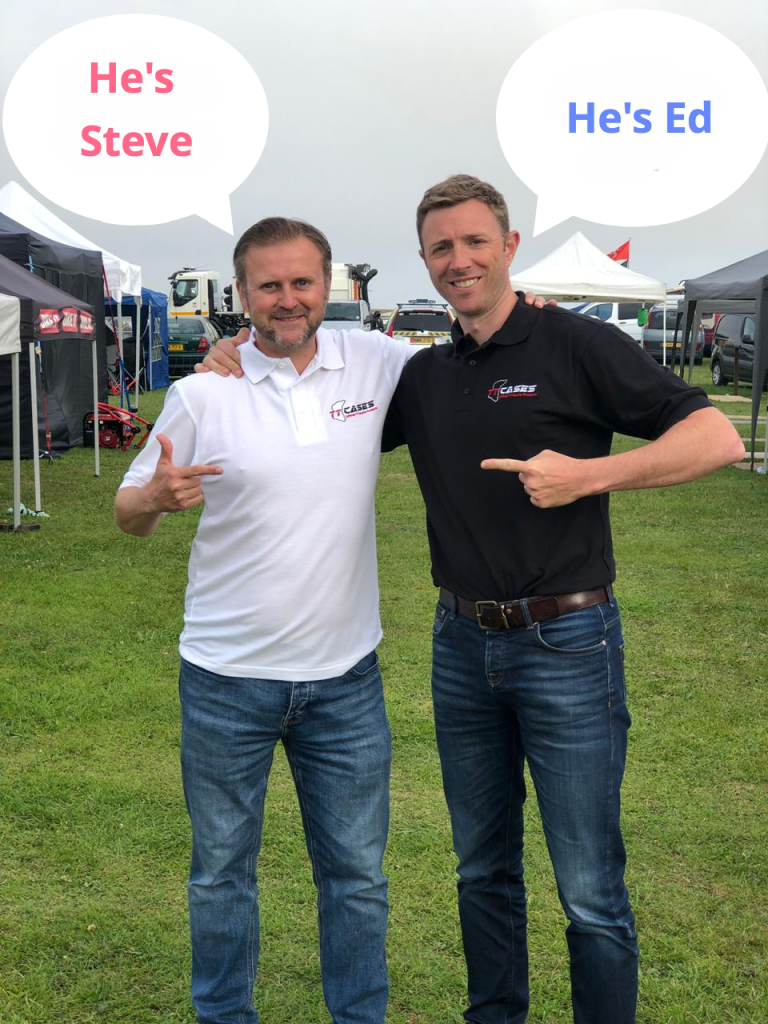 Steve and Ed at Southern 100 during July 2019